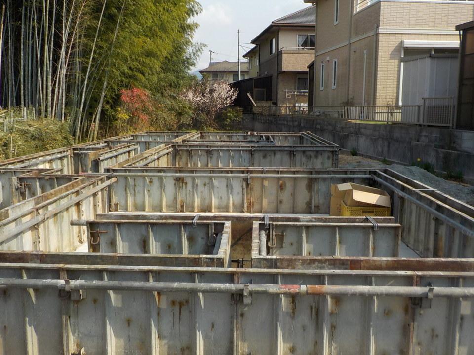 基礎ベース部分コンクリート打設